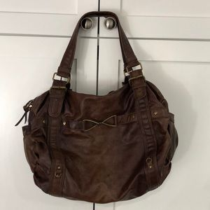 NEW Urban Outfitters Travel Bag Faux Leather Brown